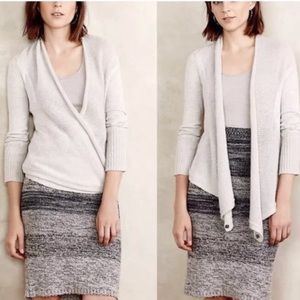 Angel of the North Gray Wool Blend Cardigan